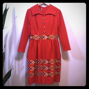 Vintage red dress by Lester Paul
